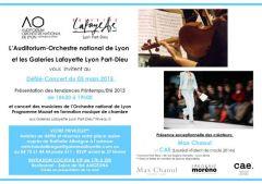 Defilé concert aux Galeries Lafayette de Lyon Part-Dieu
